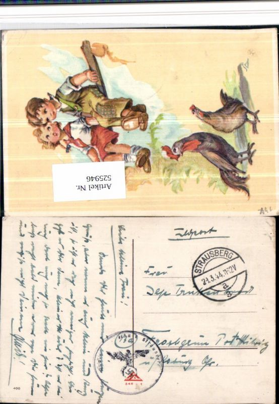 525946,WK 2 Feldpost Strausberg Froschgrün Mitwitz Kronach