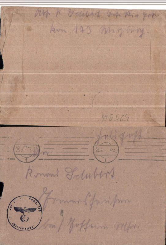 525964,WK 2 Feldpost Inf. Ers. Bat. 173 Ermershausen Hofheim