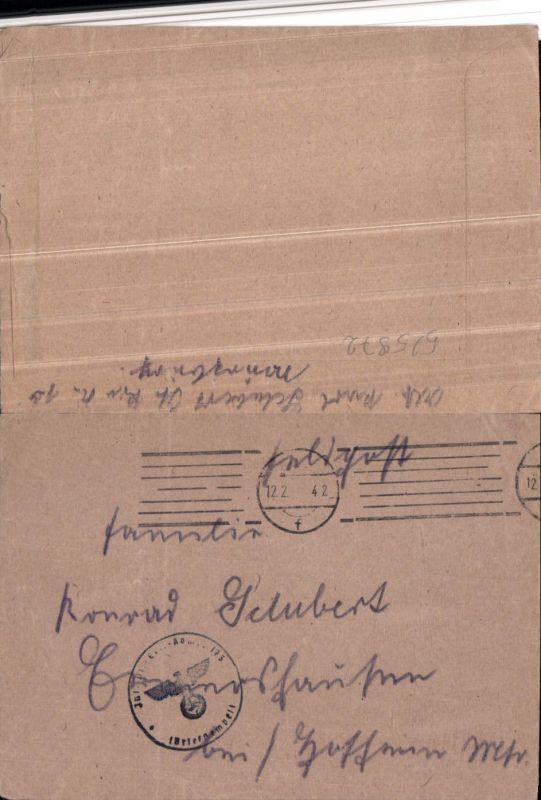 525972,WK 2 Feldpost Inf. Pionier Ers. Kp. 173 Ermershausen Hofheim