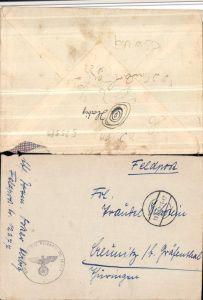 Feldpost 12277 RAD-Abteilung 1/284 Reichsarbeitsdienst Ettleben n. Creunitz Gräfenthal