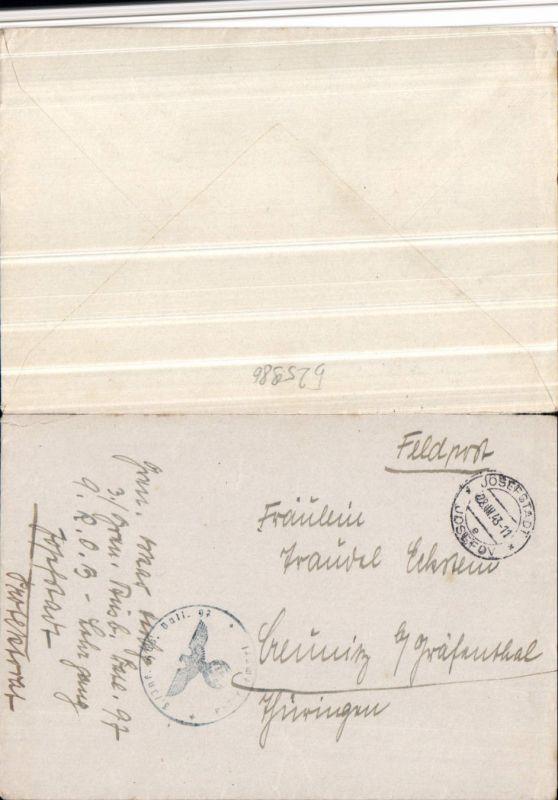 525986,WK 2 Feldpost Inf. Ausb. Bt. 97 Josefstadt Josefov Creunitz Gräfenthal