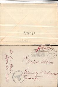 525990,Feldpost 12277 RAD-Abteilung 1/284 Reichsarbeitsdienst Ettleben n. Creunitz