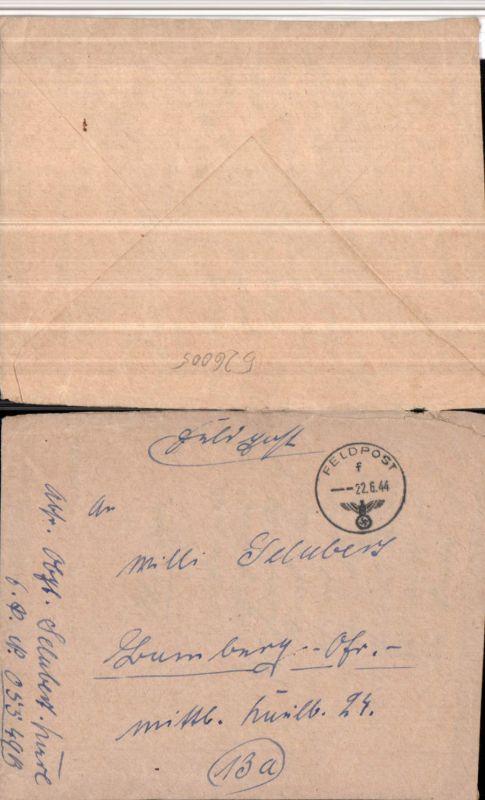 526005,WK 2 Feldpost 05349 Luftwaffe Pionier Bat. 3 n. Bamberg