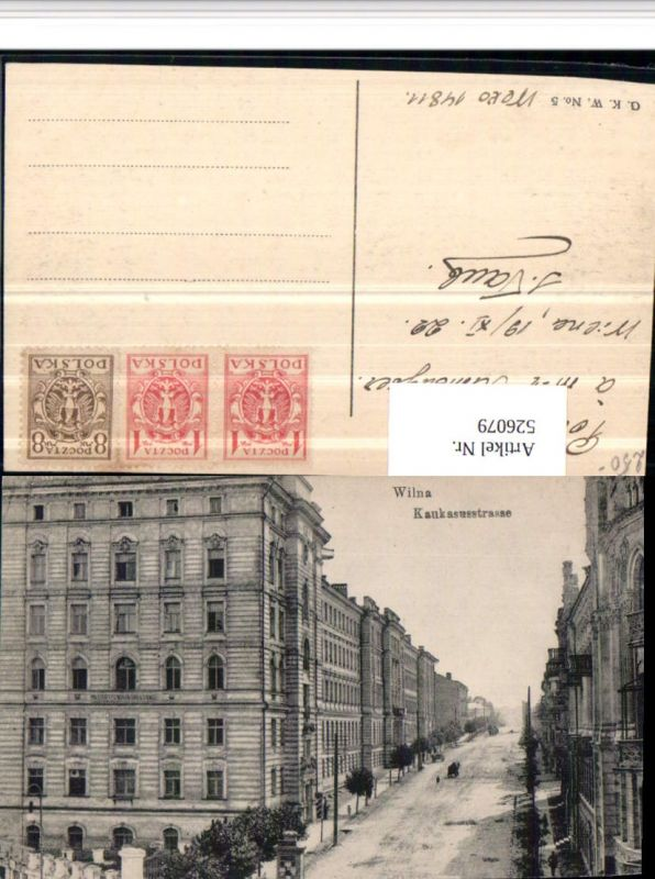 526079,Lithuania Litauen Wilna Vilnius Kaukasusstraße 1922