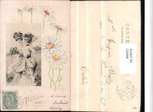 526098,Künstler AK Jugendstil Art Nouveau Präge Litho Frau