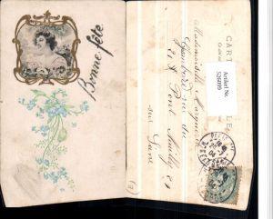 526099,Künstler AK Jugendstil Art Nouveau Präge Litho Frau