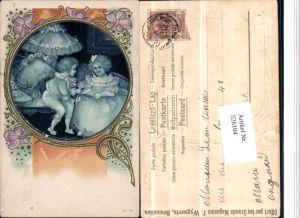 526104,Künstler AK Jugendstil Art Nouveau Litho Kinder