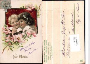 526107,Künstler AK Jugendstil Art Nouveau Präge Litho Kinder
