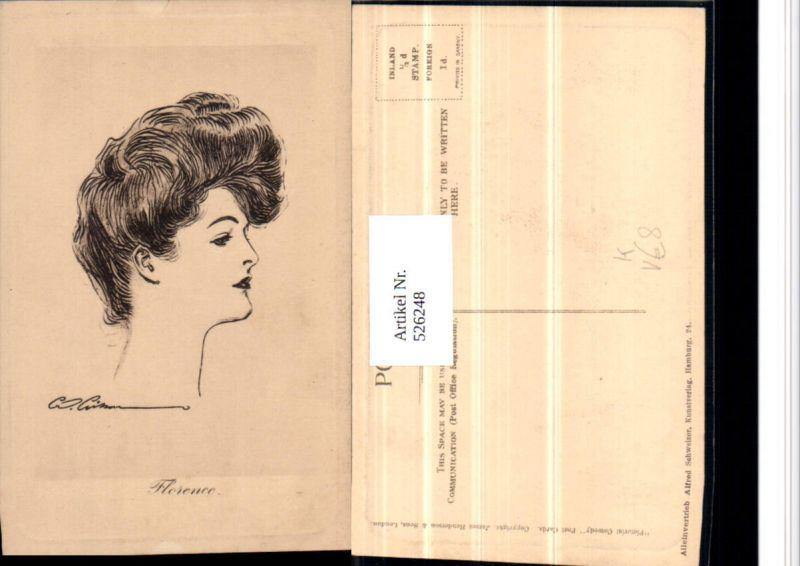 526248,Künstler AK W. Cimon ? Frau Jugendstil Art Deco Nouveau Glamour Mode Florence pub Alfred Schweizer