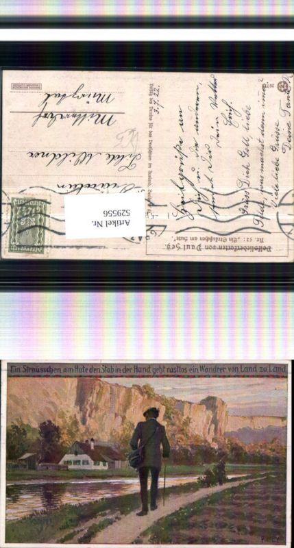 529556,Künstler AK Paul Hey Volksliedkarte Liedkarte 52