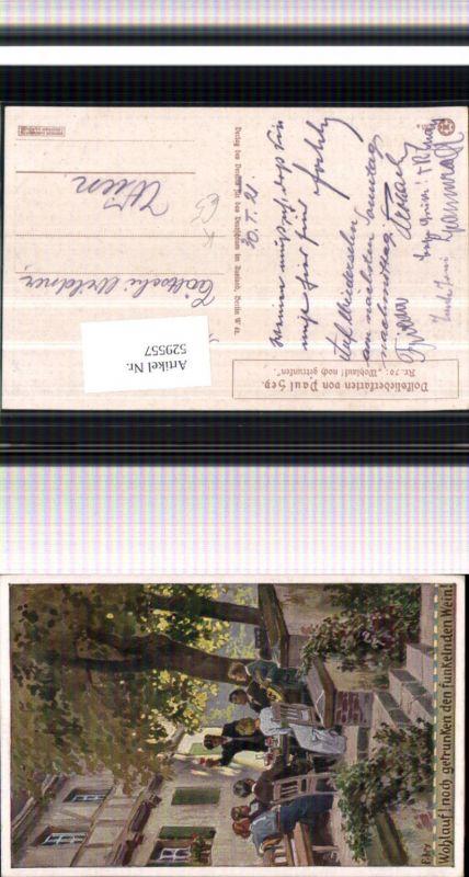529557,Künstler AK Paul Hey Volksliedkarte Liedkarte 70 Wein