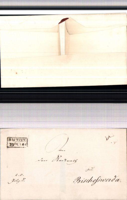 530057,Vorphila Brief 1835 Bautzen n. Bischofswerda Handstempel Stempel