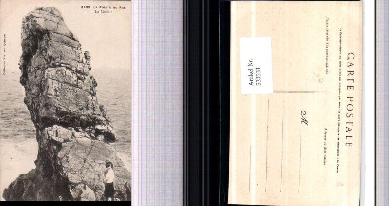 530531,France La Pointe du Raz Le Menhir Gesteinsformation Felsen