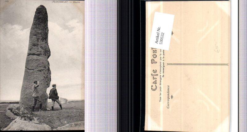 530532,France Plouescat Menhir Gesteinsformation Felsen Männer