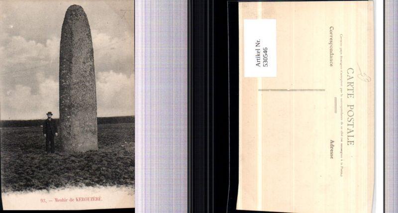 530546,France Menhir de Kerouzere Gesteinsformation Fels Mann