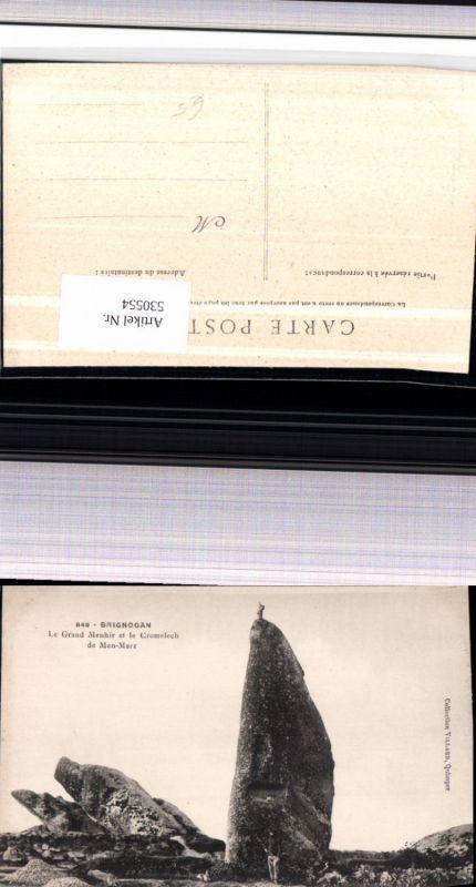 530554,France Brignogan Le Grand Menhir et le Cromelech de Men-Marz Gesteinsformation Felsen