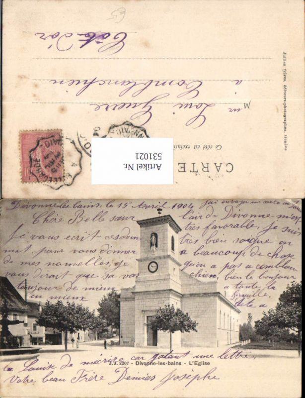 531021,France Divonne les Bains Eglise Kirche