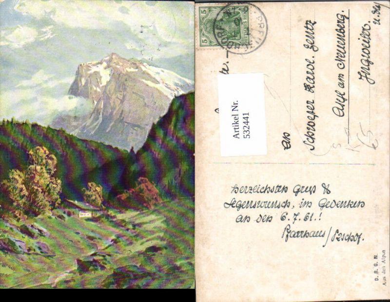 532441,Künstler AK Splitgerber A.d. Alpen St. Preuschdorf Elsass Asyl am Neuenberg