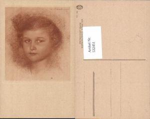 532451,Künstler AK Walther Schachinger Rötelzeichnung Mädchen Portrait
