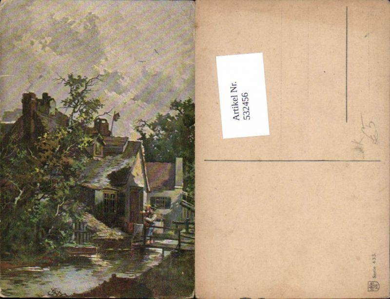 532456,Künstler AK Guggenberger T. Dorf