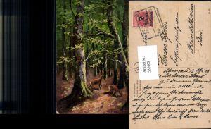 532469,Künstler AK G. Kramer Jagd Reh Wild Bahnpost Zug 73/193 Lindau Augsburg