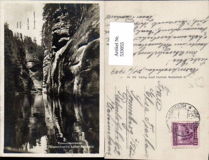 533055,Edmundsklamm b. Hrensko Herrnskretschen Hinterhermsdorf Böhmen