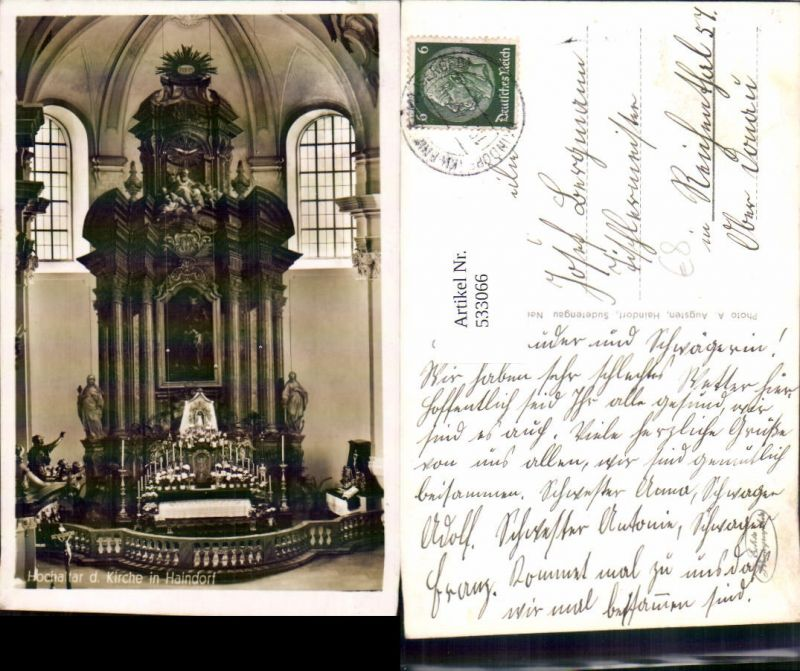 533066,Haindorf im Isergebirge Altar Hejnice Liberec