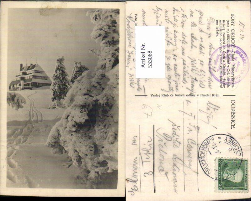 533068,Hory Orlicky Chata Masarykova Serlich destine Orlickych Horlach Pardubitz