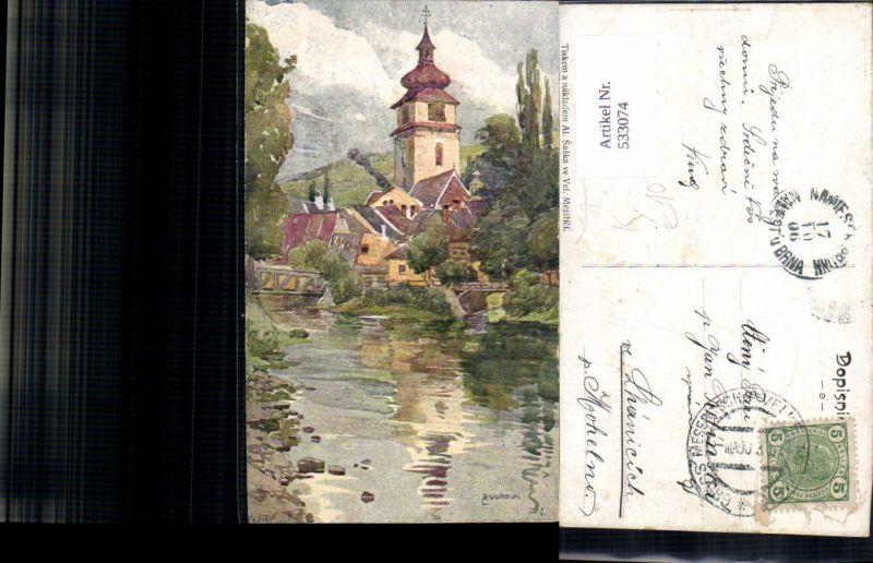 533074,Künstler AK Z. Vorlova Velke Mezirici Saar Hochland Groß Meseritsch