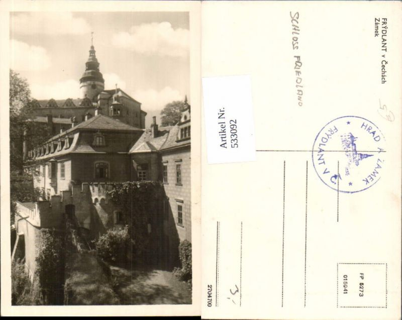 533092,Frydlant v Cechach Zamek Friedland Liberec