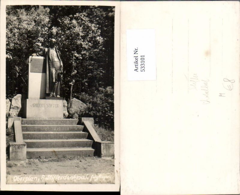 533101,Foto-AK Oberplan Adalbert Stifter Denkmal Horni Plana Krumlov Krumau