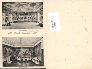 533114,tolle AK Krummau Krumau Schlosspartie Südböhmen