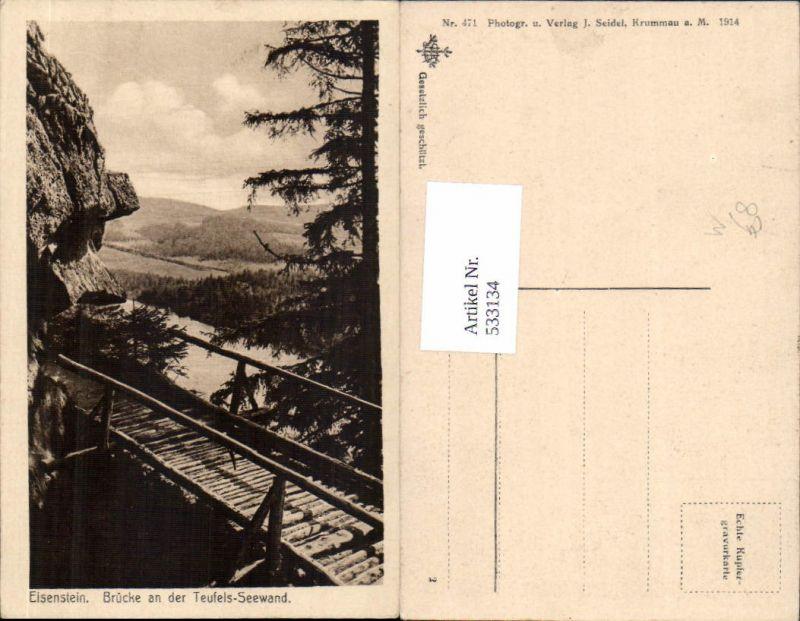 533134,Zelezna Ruda Markt Eisenstein Böhmen Teufelsee Seewand tolle Ansicht