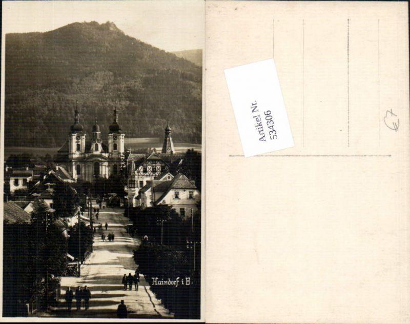 534306,Foto-AK Haindorf in Böhmen Hejnice Isergebirge