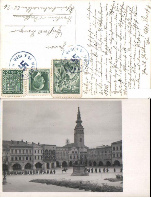 Einmarsch Neutitschein Neu Titschein Novy Jicin Sonderstempel 1938 Provisorium
