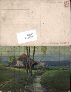 536278,Künstler AK Fritz Reiss Schwarzwald Frühling Allegorie