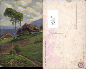 536296,Künstler AK Fritz Reiss Schwarzwald Schwarzwaldhaus