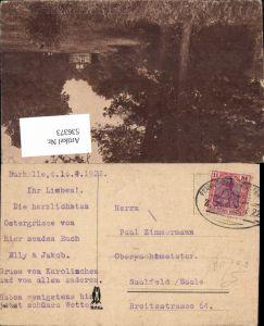 536373,Bahnpost Zug 769 13.4.1922 Burhelle n Saalfeld Saale