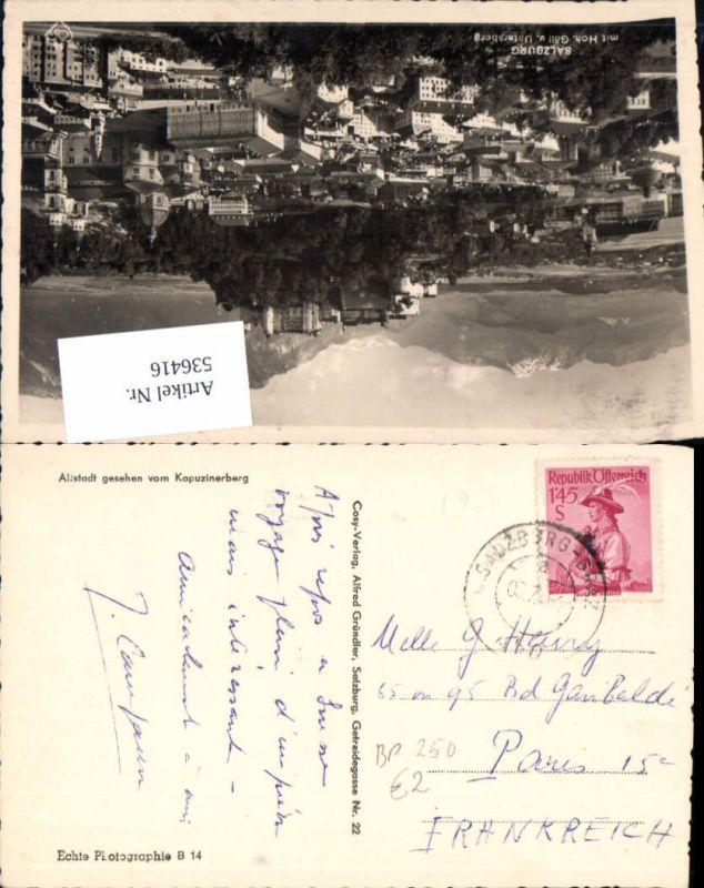 536416,Bahnpost Zug 250 Salzburg Graz 03.7.1954