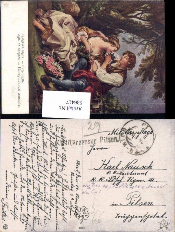 536417,Bahnpost Zug 19 Eger Cheb Wien 1915 Pilsen Plzen Zensur Feldpost