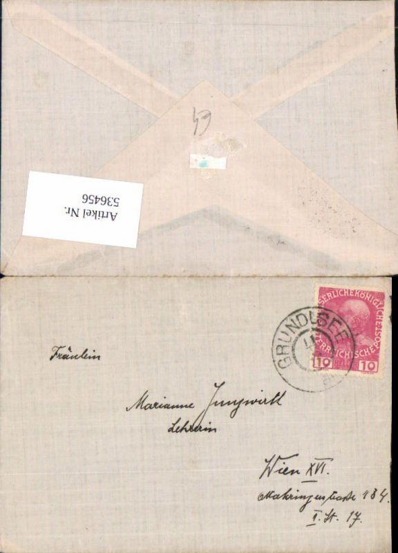 536456,Stempel Brief Grundlsee n. Wien Ottakring 1910