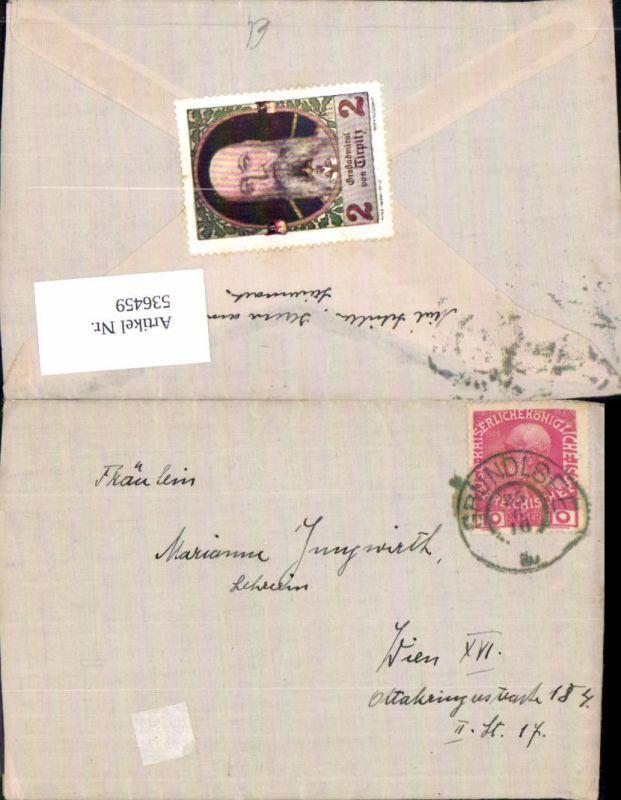 536459,Stempel Brief Grundlsee n. Wien Ottakring 1916
