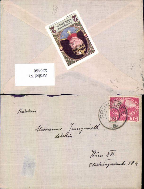 536460,Stempel Brief Grundlsee n. Wien Ottakring 1916