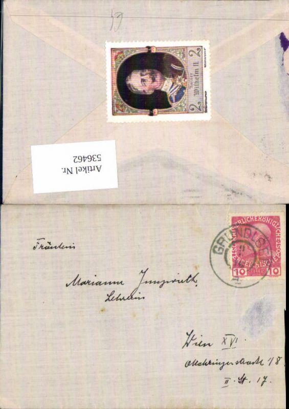 536462,Stempel Brief Grundlsee n. Wien Ottakring 1916