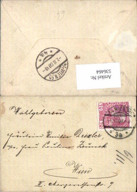 536464,Stempel Wien 1908 Wien 50
