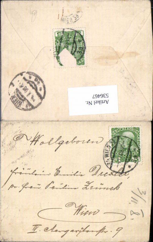 536467,Stempel Wien nach Wien 1908