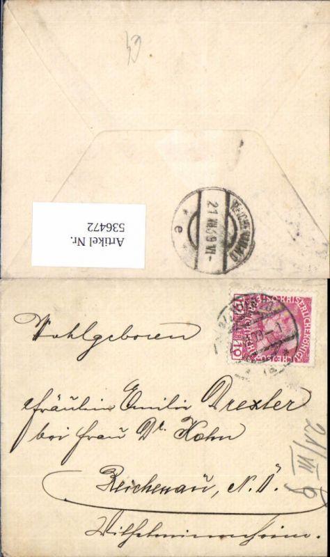 536472,Stempel Wien 28 1909 nach Reichenau