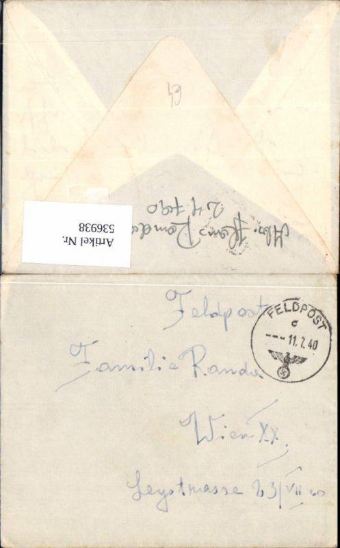536938,Feldpost WW2 1940 Nr. 24790 Wien 20 Brigittenau