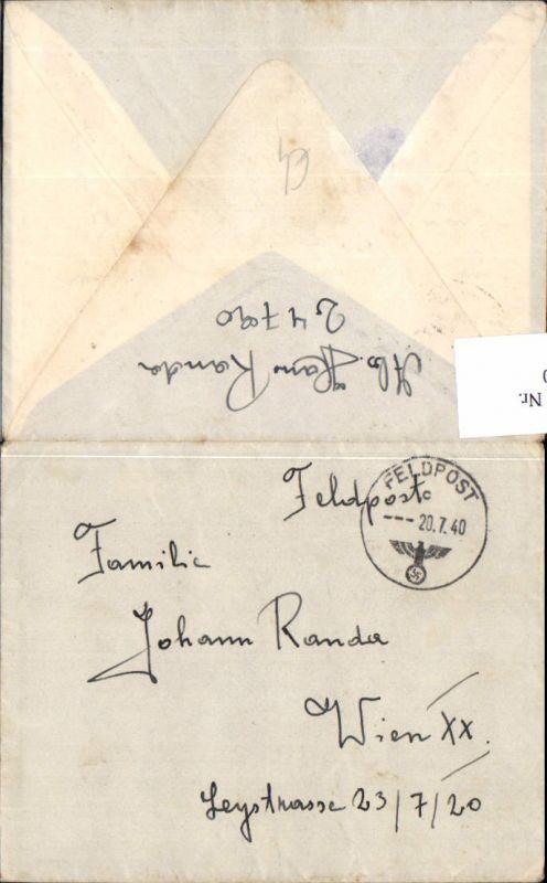 536950,Feldpost WW2 1940 24790 n. Wien 20 Brigittenau