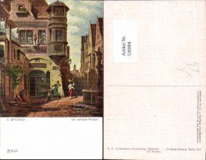 536984,Künstler AK Carl Spitzweg Der verliebte Provisor pub Ackermann 3025